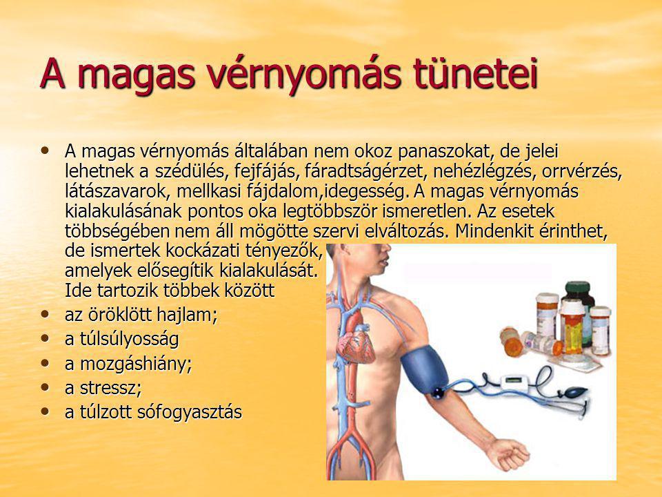 magas vérnyomás szédülés kezelése