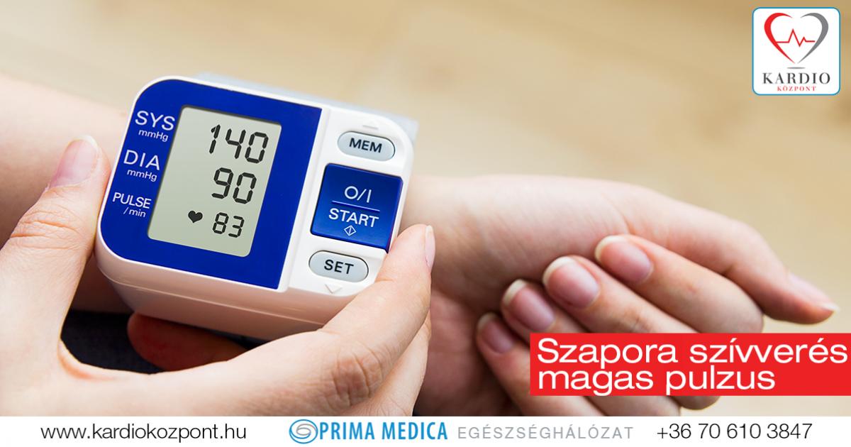 Magas pulzus mellett alacsony vérnyomás